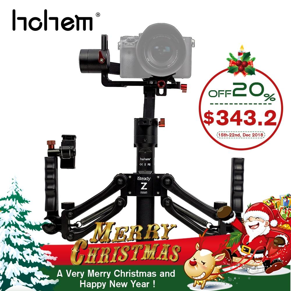 Hohem iSteady Gear 3-Axis Handheld Gimbal Stabilizzatore con molla doppia maniglia per DSLR Macchina Fotografica di Mirroless per SonyA7 come per il Regalo