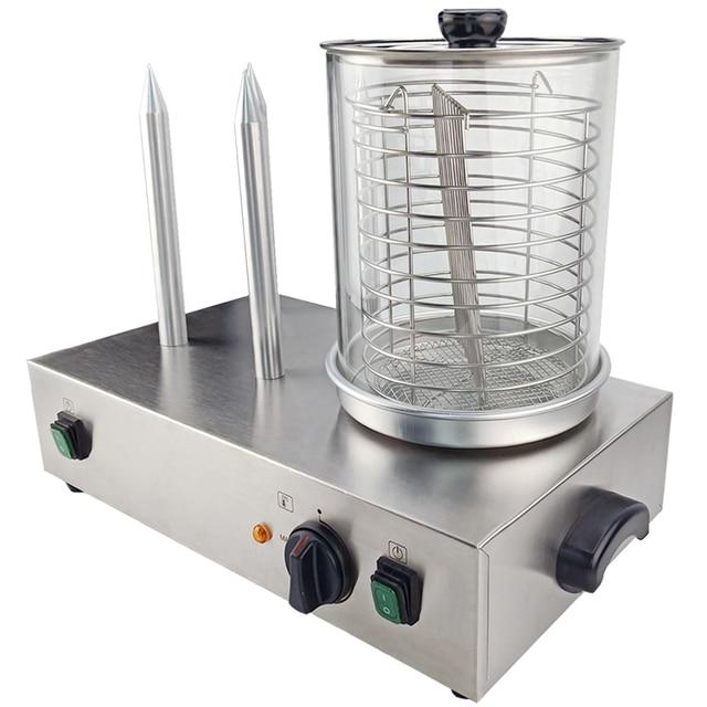 Steaming Heating 4 Sticks Hot Dog Warmer For Restaurant Kitchen Sausage Warmer Making Machine Hot Dog Steamer