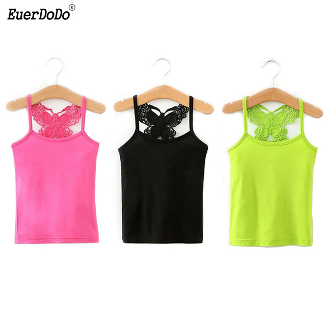 e27dbee12044 Summer Girls T Shirt Lace Girl Underwear Cotton Tops For Kids Singlets  Children Undershirts Baby Tees