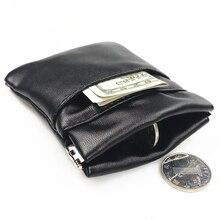 BLEVOLO кошелек для мелочи из искусственной кожи Карманный короткий кошелек повседневные Мягкие Черные кошельки мужские монеты для ключей маленькие сумки для денег мужские кошельки