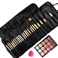 Beauty essential 24pcs pro makeup brushes cosmetic brush set and 15 color concealer platte and sponge.jpg 200x200