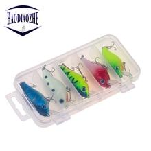 5pcs/set Crankbait Fishing Lure Set 5.5cm 7g Artificial Wobblers Hard Bait Gift Box Professional Bass Pike Minnow Fishing Tackle