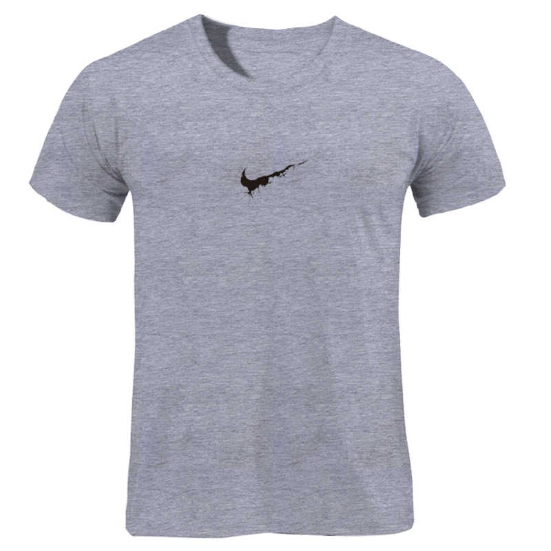 Men Short Sleeve Cotton T Shirt Summer Style Gyms Fitness Slim T-shirts Print Male Fashion Casual O-Neck JUST BREAK IT Tees Tops