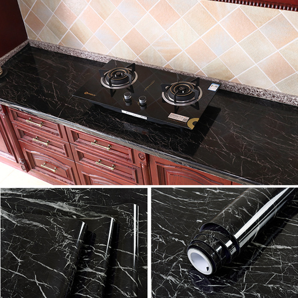 Thick Waterproof Pvc Imitation Marble Pattern Stickers Wallpaper Self-adhesive Wallpaper Renovation Of Furniture