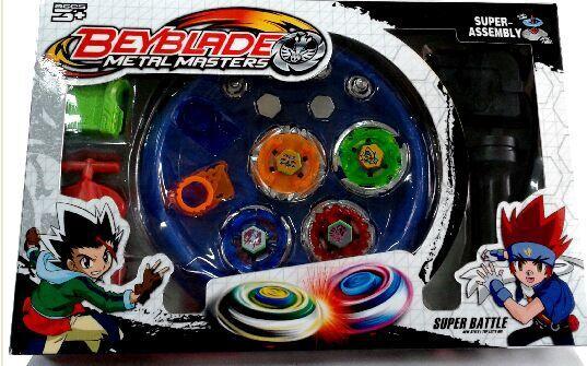 Envío gratis 4 unids/set Beyblade Arena Spinning Top Metal Fight Beyblad Beyblade Metal fusión niños regalos juguetes clásicos
