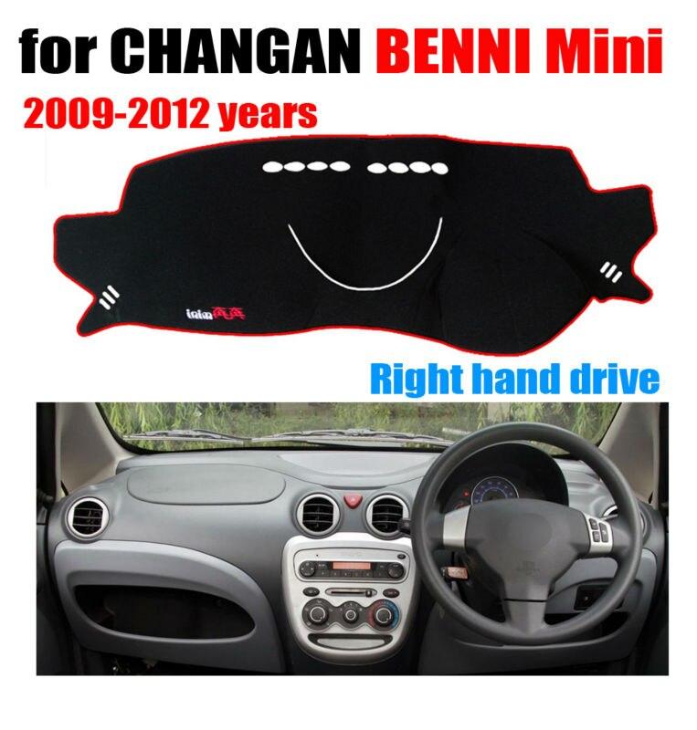 Tableau de bord de voiture couvre tapis pour CHANGAN BENNI Mini 2009-2012 conduite à Droite dashmat pad dash couverture auto tableau de bord accessoires