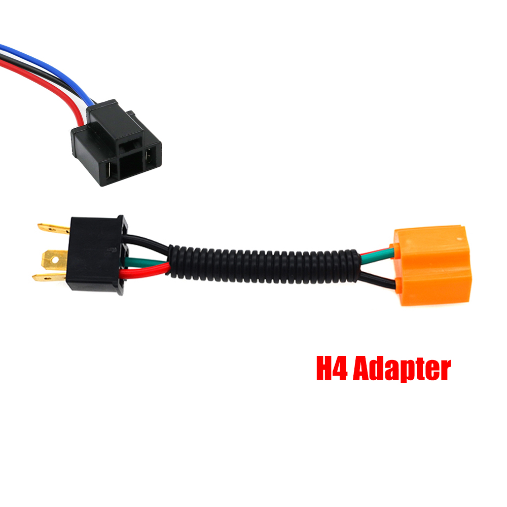 medium resolution of ysy 200x h4 h7 h11 wiring harness socket female adapter car auto wire connector cable plug for hid xenonheadlight fog lamp bulb in base from automobiles