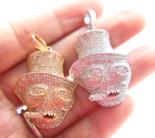 High quality micro pave AAA cubic zirconia 45mm hip hop bling free 24