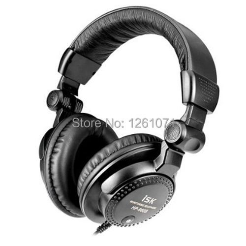 Brand New Over ear ISK HP-960B Professional Studio Monitor Dynamic Stereo DJ Headphones HD headset Free shipping