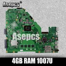 Asepcs X550CA материнская плата для ноутбука ASUS X550CA X550CC X550CL R510C Y581C X550C X550 Тесты оригинальная плата 4 GB Оперативная память 1007U