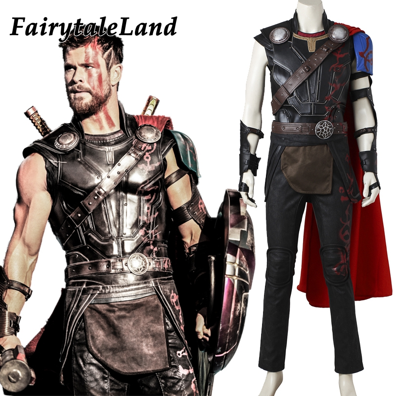 Thor Cosplay Costume Halloween Party Cosplay Costume Custom made Superhero Odinson Thor Ragnarok Cosplay Costume Fancy