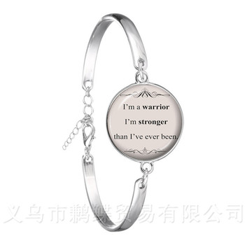 Newest Classic Jesus Jewelry Christian Bracelet Faith With God Nothing is Impossible Quote Jewelry Glass Dome Bangle For Women image