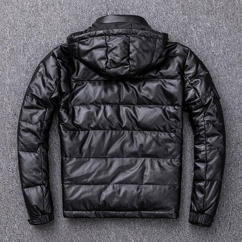 Image 5 - Мужской пуховик MAPLESTEED, из 100% натуральной овчины, со съемным капюшоном, теплая зимняя куртка с капюшоном, M211Кожаные куртки    АлиЭкспресс