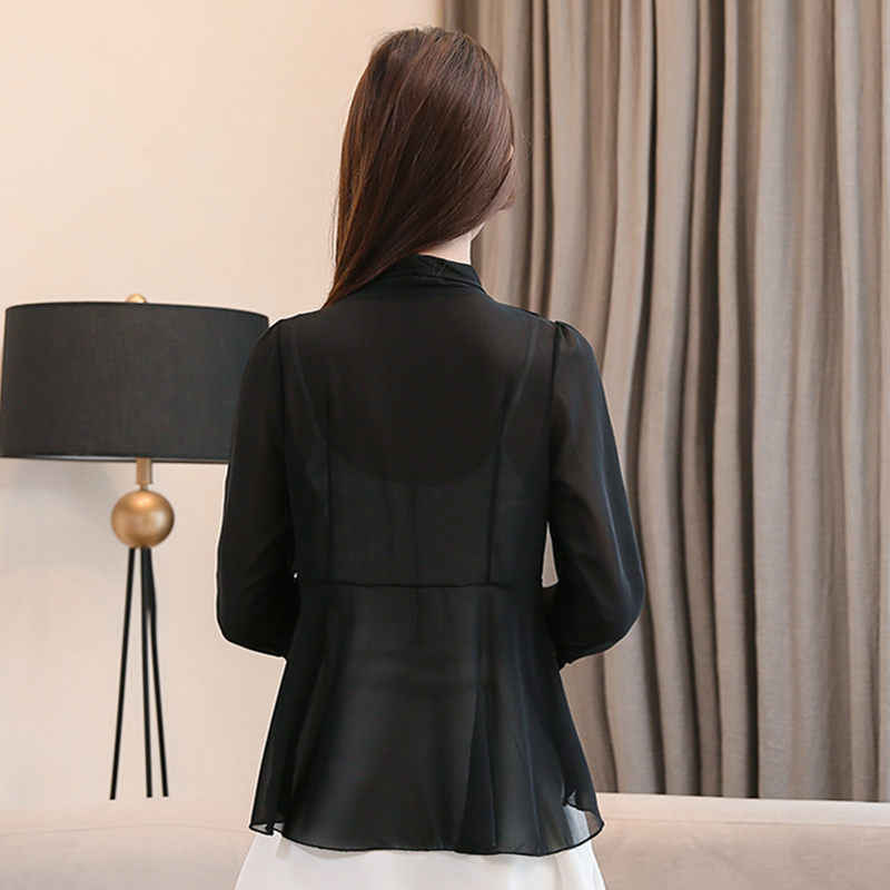 새 셔츠 카디건 탑스 태양 보호 의류 숙녀 2019 fashiaon 블라우스 재킷 캐주얼 짧은 한국 쉬폰 얇은 목도리 f805