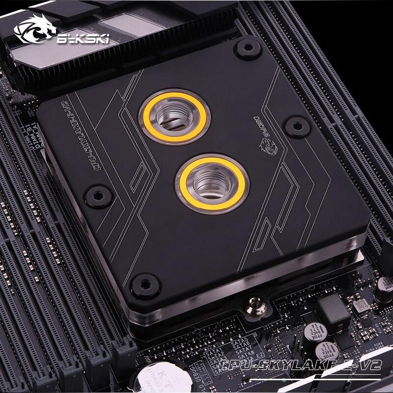 Bykski, CPU-SKYLAKE-E-V2, CPU, bloque de refrigeración de agua para LGA3647 Square ILM Intel Xeon E5 2678 V3 e5-2678 V3 CPU 2,5G Serve LGA 2011-3 PC procesador de escritorio para placa base X99