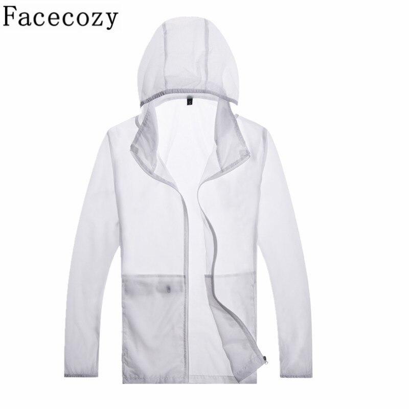 Facecozy Women&Men Summer Outdoor Hiking Jacket Quick Dry Sport Climbing&Camping Jackets Long Sleeve Hooded Anti UV Hunting Coat