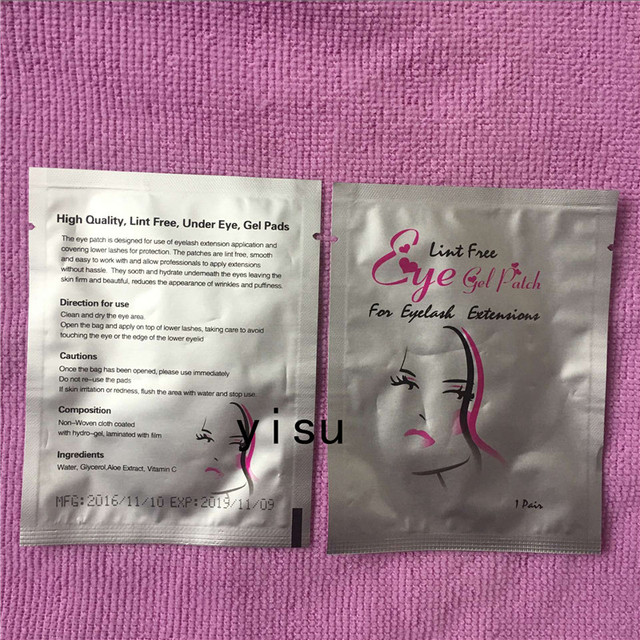 Women fashion eye pads paper patches eye tips sticker wraps make up tools 1000 pairs wholesale