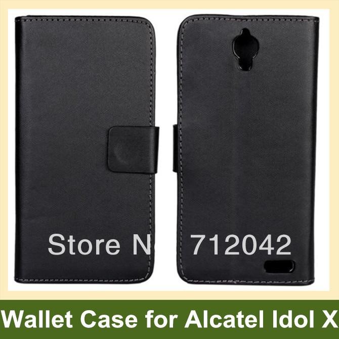 01ed290fb Design de moda pu carteira de couro da tampa do caso da aleta para o  alcatel one touch idol x frete grátis