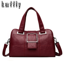KMFFLY High Quality Leather Ladie Handbags Women Big Capacity Bag Totes Female S