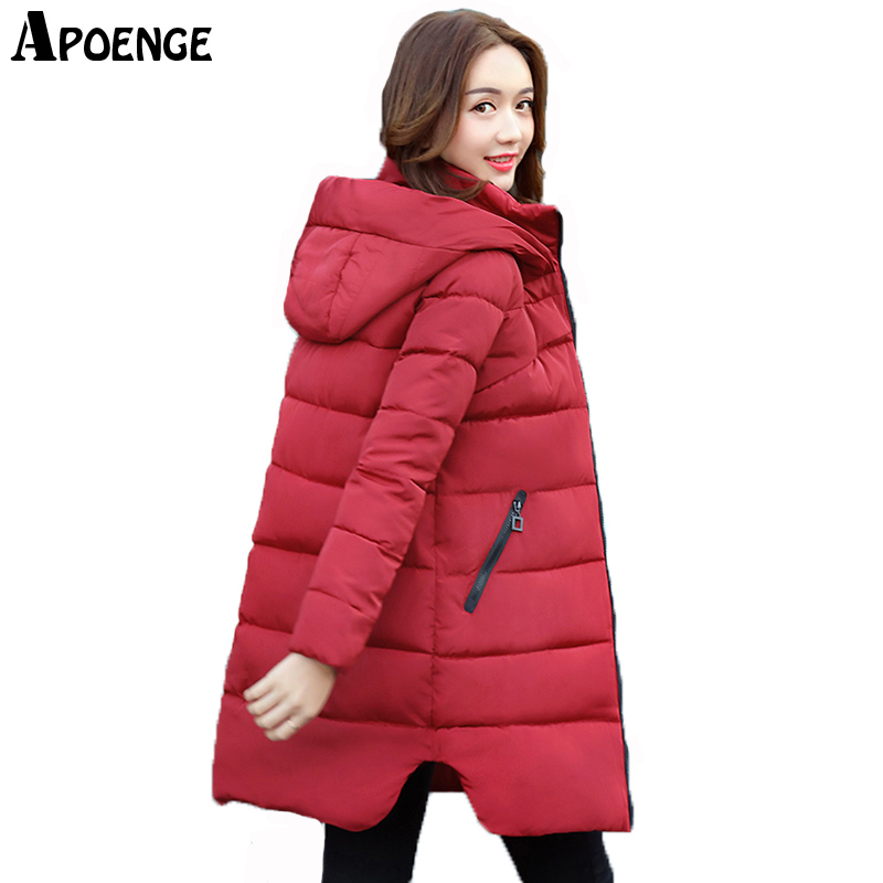 APOENGE Ladies Coat Plus Size Women Winter Jacket Long Thick Hood Cotton Padded Parka Mujer cazadoras mujer invierno 2017 QN638 1 set double punch tablet press machine digit round stamp applicable model tdp 1 5 tdp 5 tdp0 tdp 6