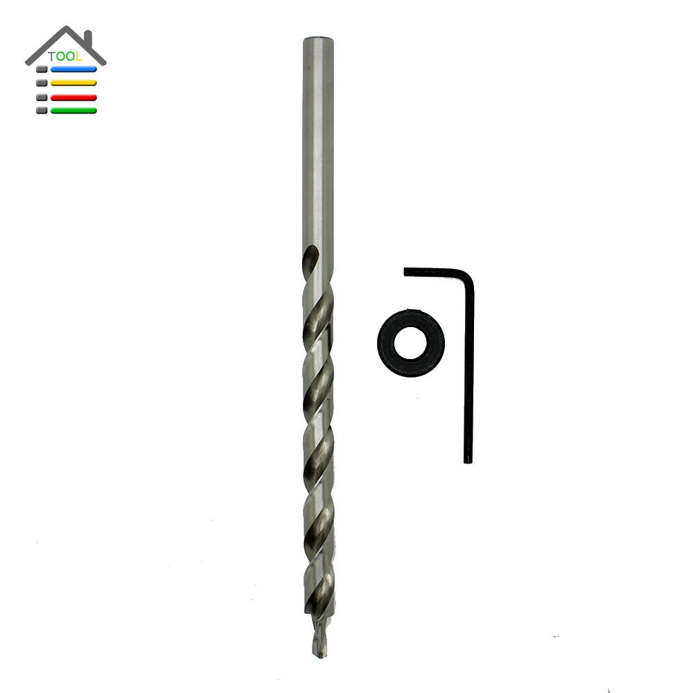 New 9mm Woodworking Twist Step Drill Bit with Depth Stop Collar for Kreg Jig Manual Pocket Hole Guide 1 4 hex twist 9 5mm diameter bits step drill woodworking drills bits set for kreg pocket hole drill jig guide
