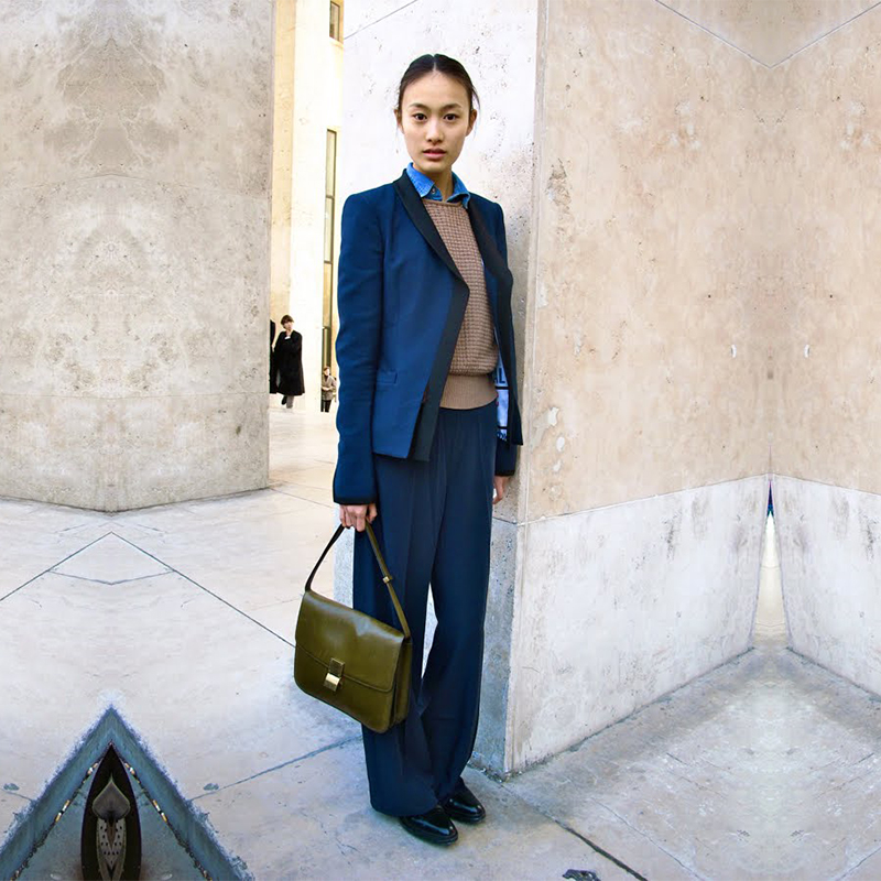 Dark Blue Women Business Suits Formal Female Pants Suits OL Slim Office Uniform Style Ladies Trouser Suit Custom Made