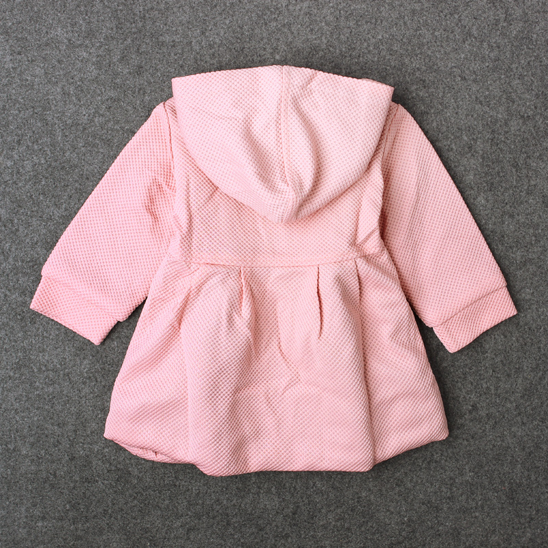 0 18Months Autumn Winter Infant Jackets For Girls Outerwears Casual Hooded Kids Coats Pink Red Warm Thick Newborn Clothes BC1245 in Jackets Coats from Mother Kids
