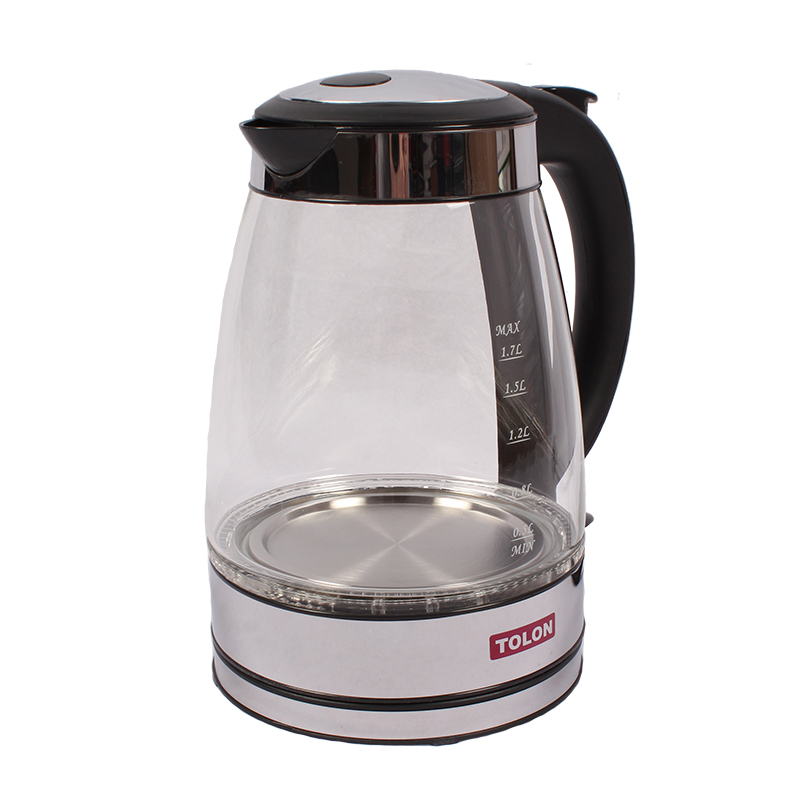 Electric Kettle Glass Tolon TO-499 1.7L