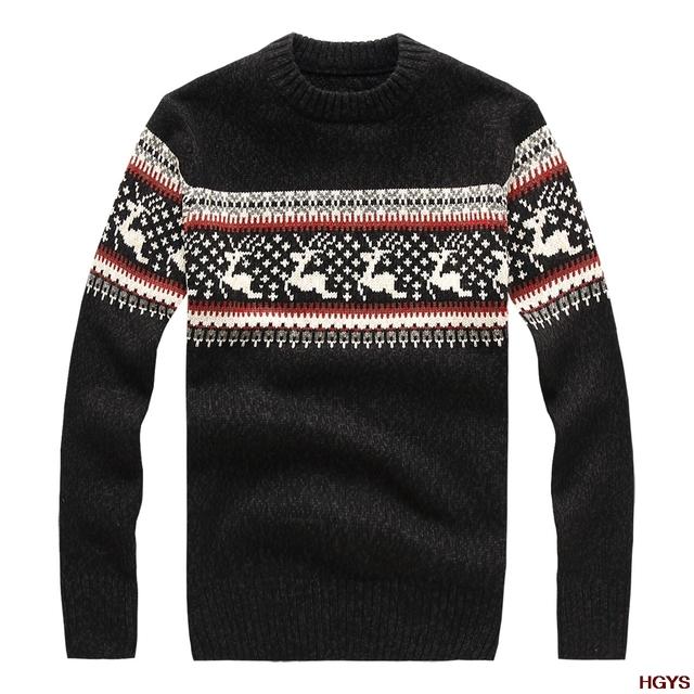 Outono/inverno 2017 masculino camisola The deer jacquard cultivar a moralidade diamante com suéter grosso