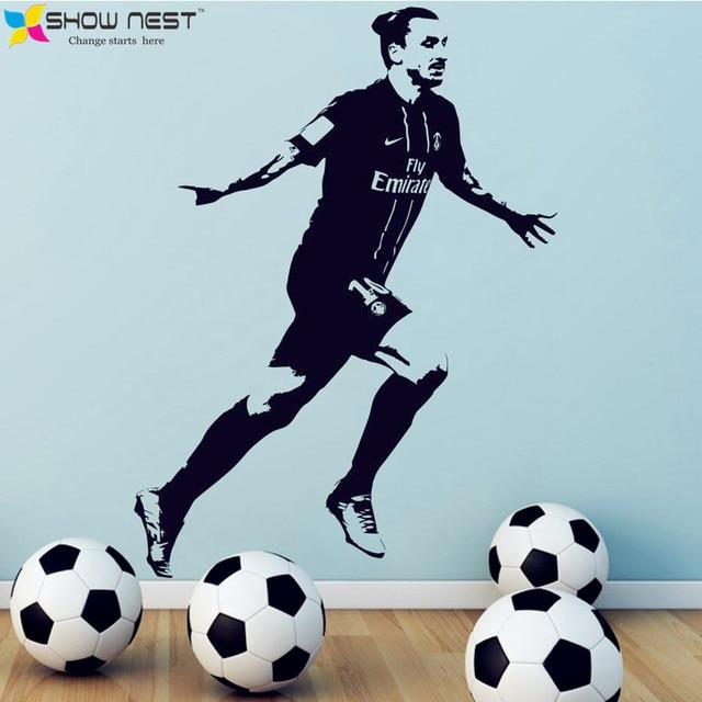 Affiche Zlatan Ibrahimovic PSG Football Vinyle Wall Sticker Home Decor  Wallpaper,Garçons Chambre Papier Peint