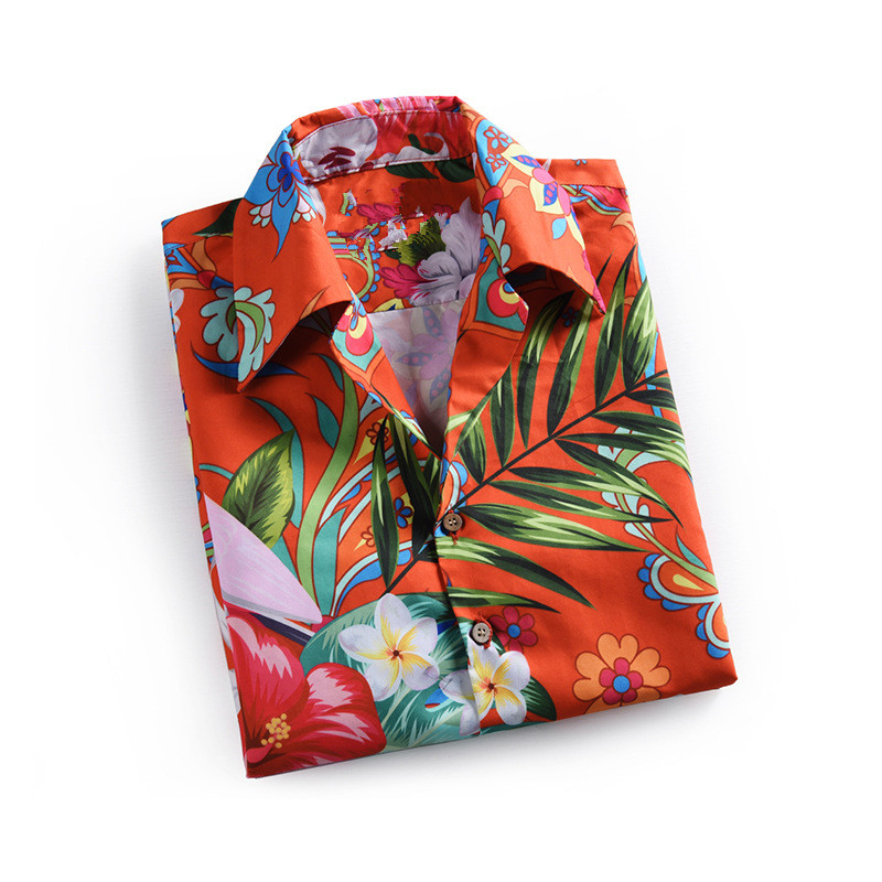 New arrival men 39 s floral print Shirts hAWAII style short sleeves shirts A345 in Casual Shirts from Men 39 s Clothing
