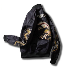 Vintage embroidery basic jacket coat Autumn 2018 street MA1 black bomber jacket men baseball jackets sukajan L194