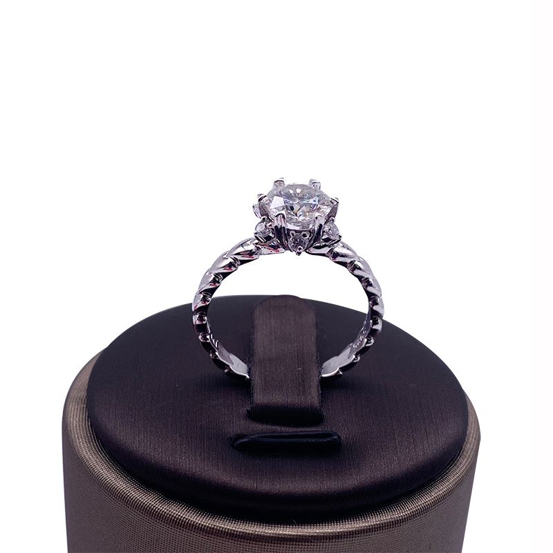 9K White Gold Luxury Moissanite Ring 1ct 2ct 3ct Diamond ring jewelry Engagement Ring Anniversary Ring in Rings from Jewelry Accessories