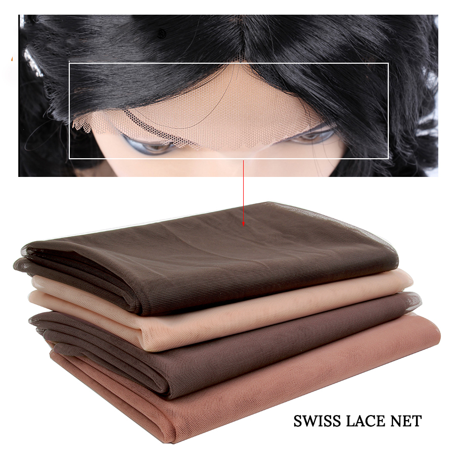 Hair Extensions & Wigs Alileader 1/4 Yard Brown Beige Grey Swiss Lace Material For Wigs Cap Basement Foundation Toupee Frontal Closure Weaving Cap Net Tools & Accessories