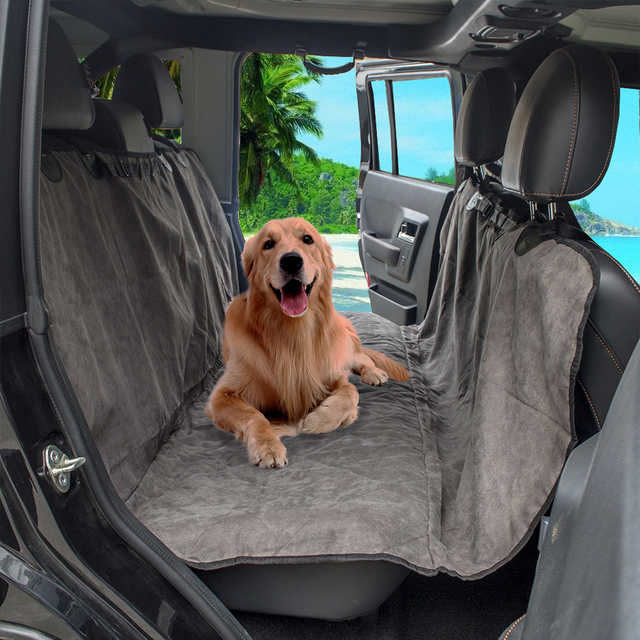 Safty Travel Soft Quilted Suede Fabric Dog Pet Car Seat Cover Mat Back Protector