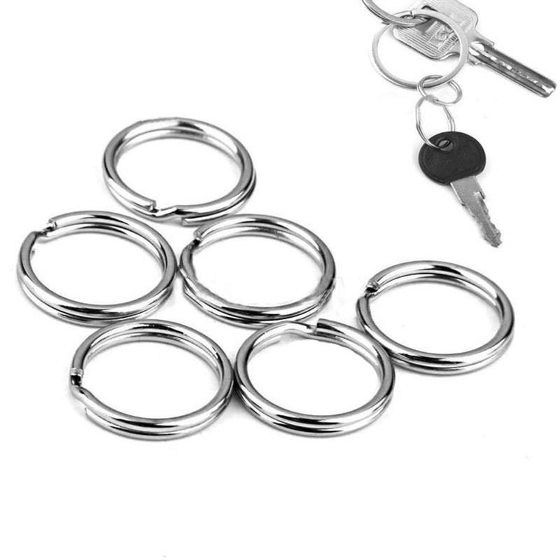 50Pcs/Pack Silver Metal Key Holder Split Rings Keyring Key Chain Round Circle Ring Connector Keychain Keyfob Accessories недорго, оригинальная цена