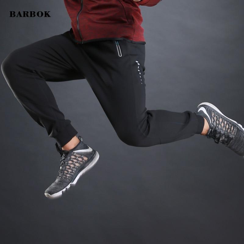 db7dc6daf64f1e BARBOK Running Pants Men Sport Pencil Pants Men Cotton Soft Bodybuilding  Joggers Gym Trousers Running Tights