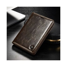 CASEME for BlackBerry Passport Silver Edition Oil Wax Leather Case Card Holder – Brown