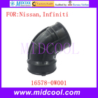 New Curved Throttle Air Intake Hose Duct Boot Pipe OEM 16578-0W001 165780W001 for Nissan Infiniti