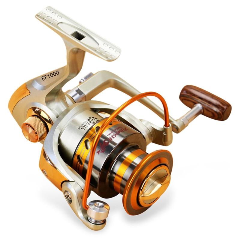 Moulinet de pêche EF1000-7000 5.2: 1 De Pêche Spinning Reels Métal 12BB Volant Pour Frais/Sel Pêche en Eau Outil accessoires