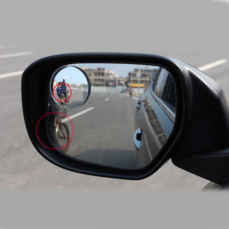 1 pcs Car Styling 360 Graus Framless Vidro Convexo Blind Spot Espelho Grande Angular Rodada HD Rear View Espelhos