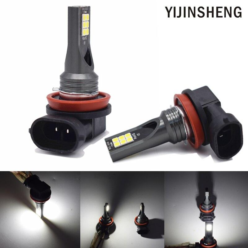 YIJINSHENG 60W 3030 SMD Super Bright H11 H8 H16 H11LL H8LL LED Bulb LED Fog Light Bulbs Lamps Auto Replacement 6000K White