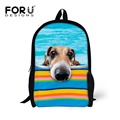 FORUDESIGNS Famous Best Selling Cute Dog School Bags Children Printing Cute Carton Animal Schoolbag For Boys And Girls Children
