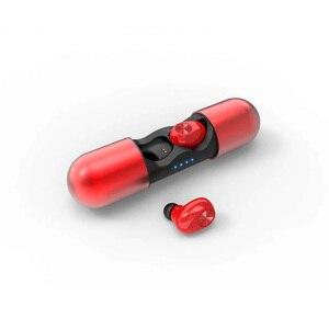 Image 1 - 実際のステレオヘッドセットワイヤレス Bluetooth 5.0 イヤホン高品質の Bluetooth スマートフォン電話 V8 2 チャンネルイヤホン