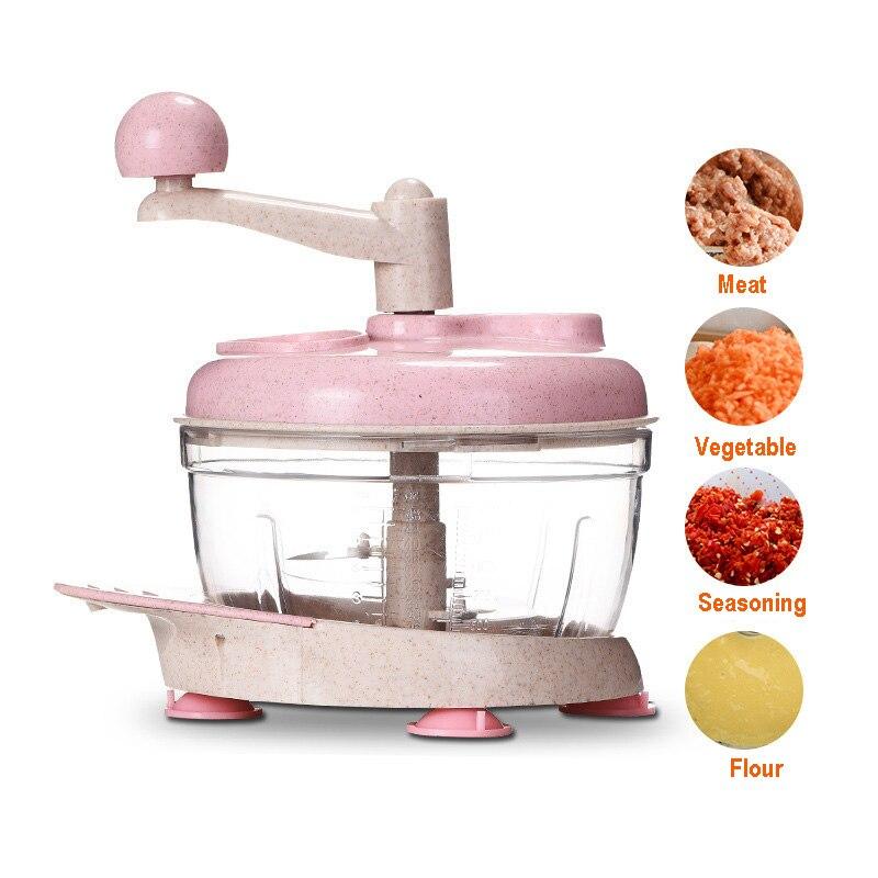 Multifunction Vegetable Meat Grinder Manual Food Chopper Shredder Hand Pulling Food Processor Blender Kitchen Accessories 35