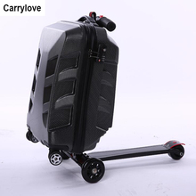 Bagage roulant de scooter de Carrylove portent le sac de chariot de planche à roulettes dabs de valise de voyage
