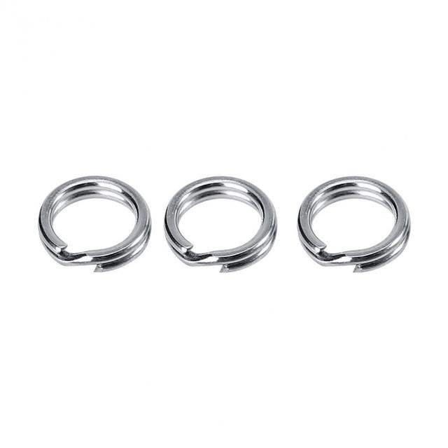 50/100pcs Stainless Steel Fishing Split Ring For Blank Lures Bait 3-8.46mm Double Circle Loop Connector Carp Fishing Accessories