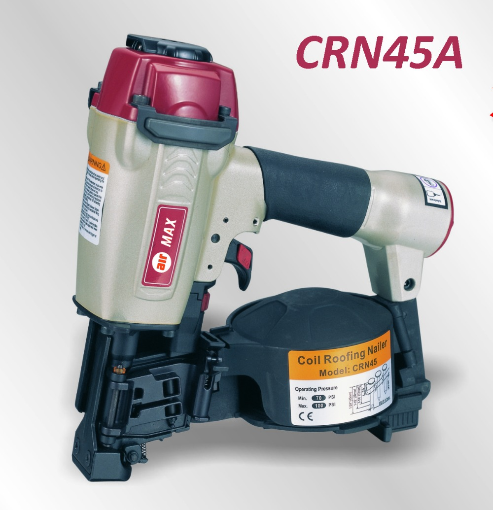 AIR COIL ROOFING NAILER GUN CRN45A (not include the custom tax) high quality cn55 industrial pneumatic coil nailer roofing air nail gun tool
