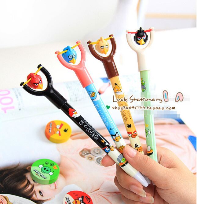8pcs lot birds Ballpoint pen cute funny kawaii pens font b Novelty b font canetas rollerball