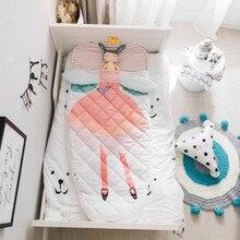 Детский спальный мешок, хлопковый модный реквизит для фотосессии, милый мультяшный узор, съемные рукава, спальный мешок, анти-удар, одеяло
